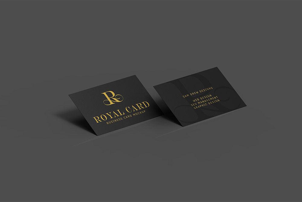 Dark Business Card Mockup PSD  Download Mockup
