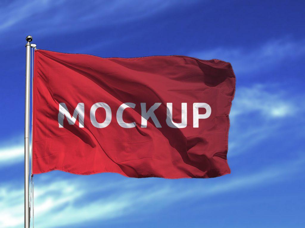 Flag Mockup Free PSD  Download Mockup