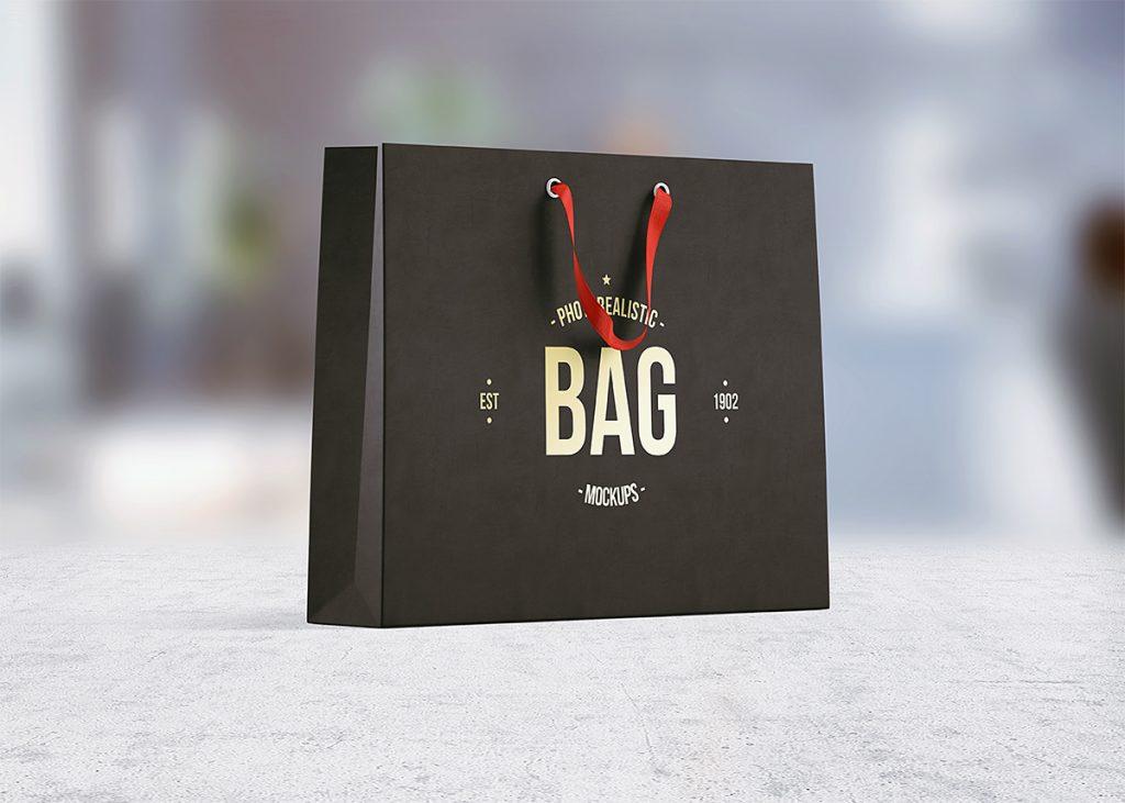 Paper Shopping Bag Mockup PSD  Download Mockup