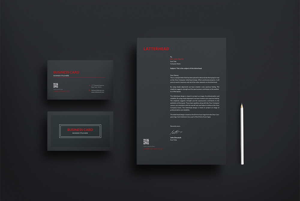 Business Card and Letterhead Mockup Free PSD  Download Mockup