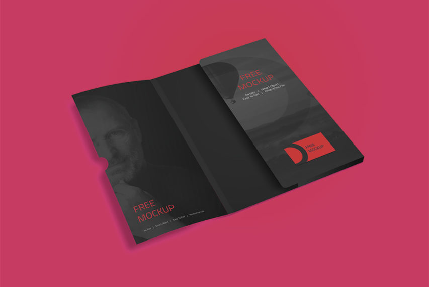 Corporate Folder Mockup Free PSD  Download Mockup