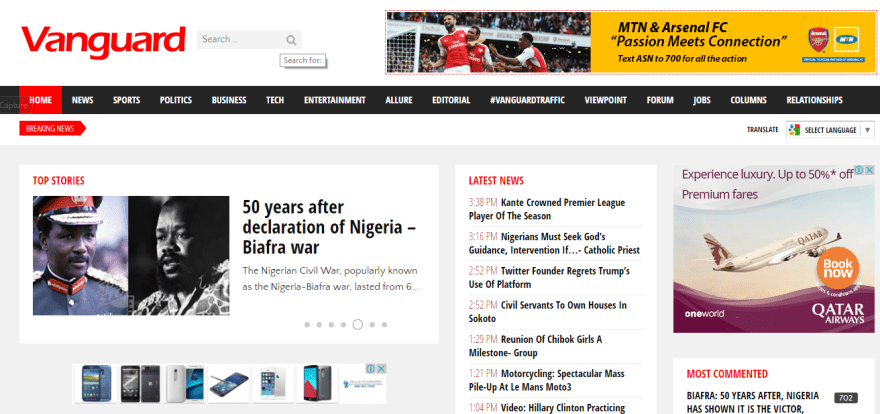 Download Vanguard Newspaper App
