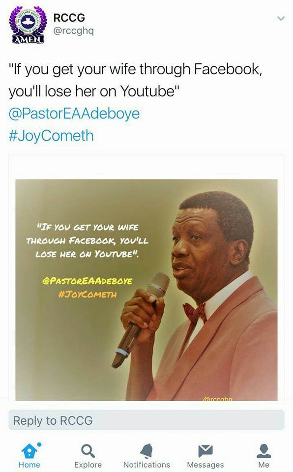 Pastor adeboye messages free download