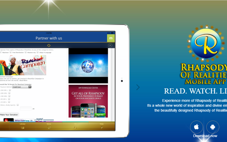 Download Rhapsody of Realities App