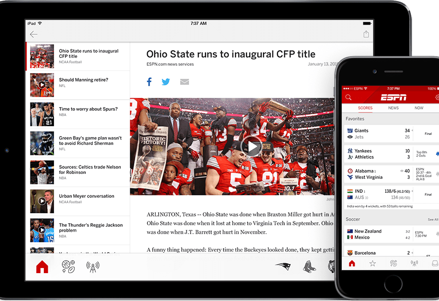 Download ESPN App For Android