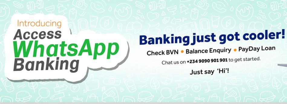 Get Access Bank WhatsApp Banking for BVN, Balance Enquiry & PayDay Loan