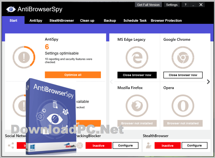 Abelssoft AntiBrowserSpy Free Download