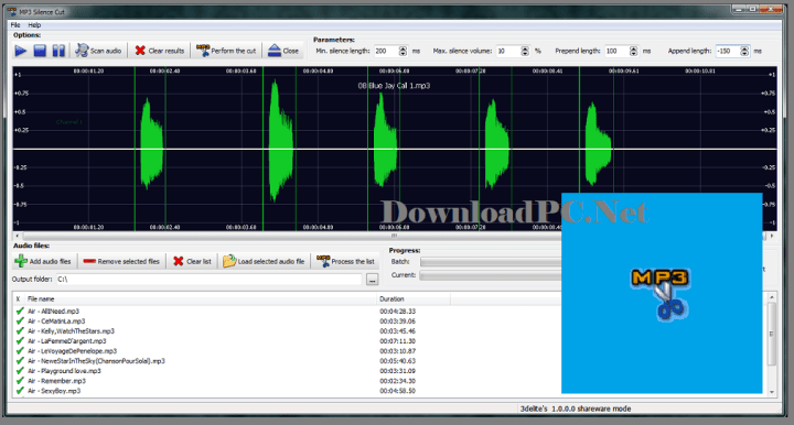 3delite MP3 Silence Cut Full Version Free Download
