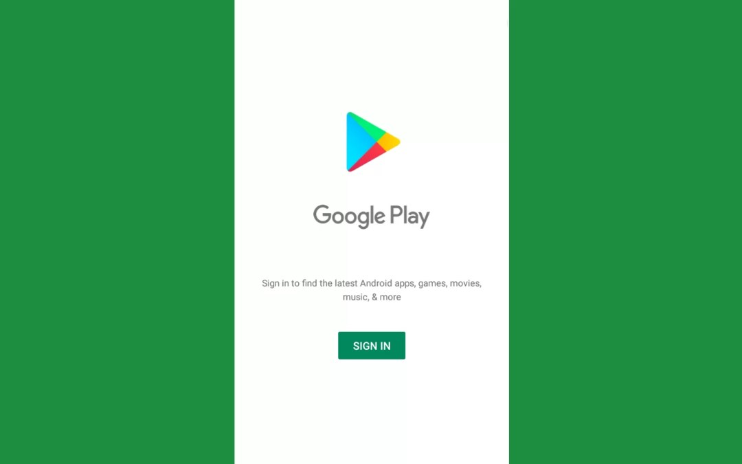 How to Sign in Google Play Store