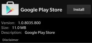 Install Play Store apk on BlackBerry OS