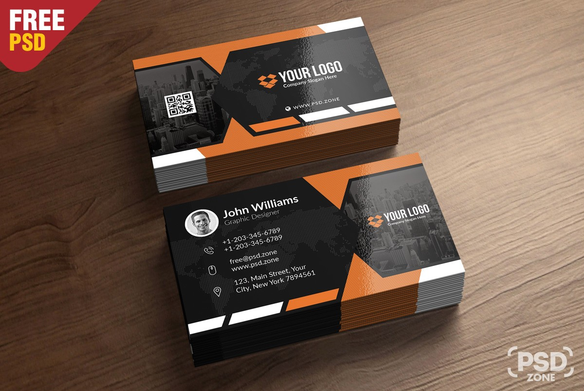 Free Business Card Template Download Psd