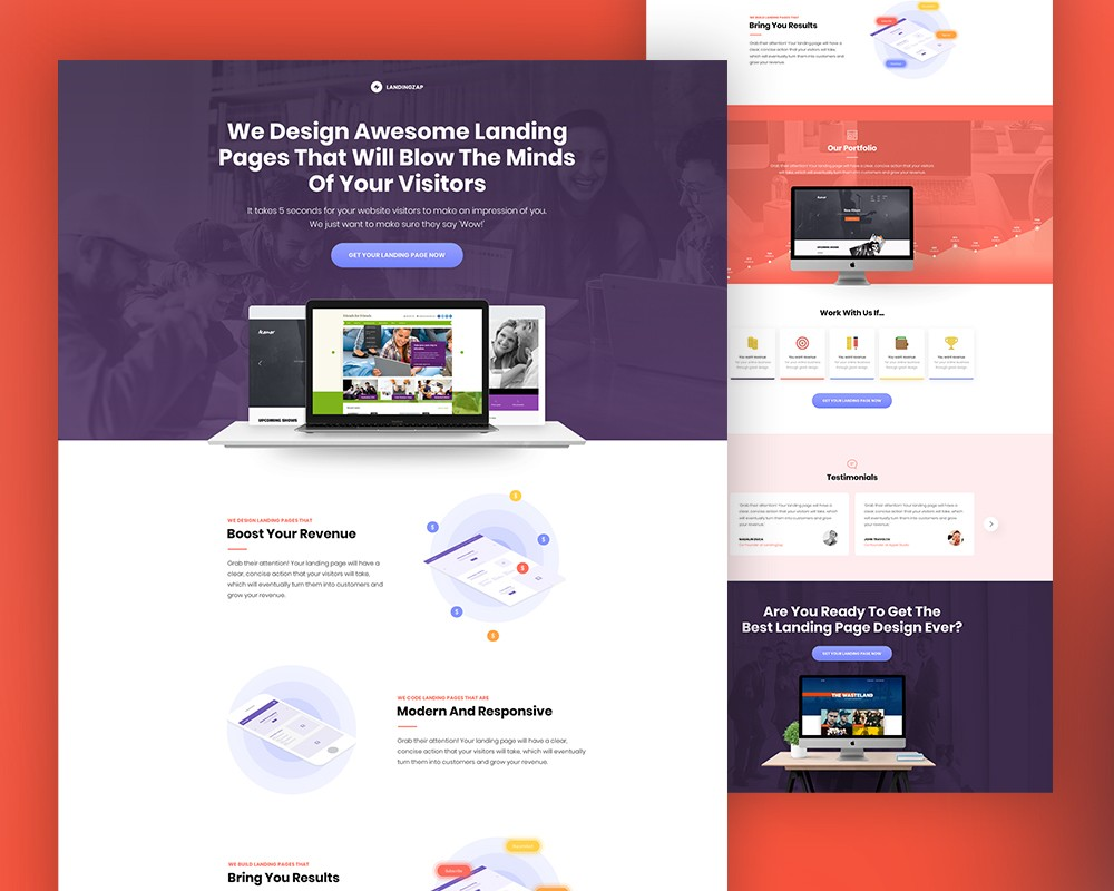 All created by our global community of independent web designers and developers. Web Design Company Website Template Download Psd