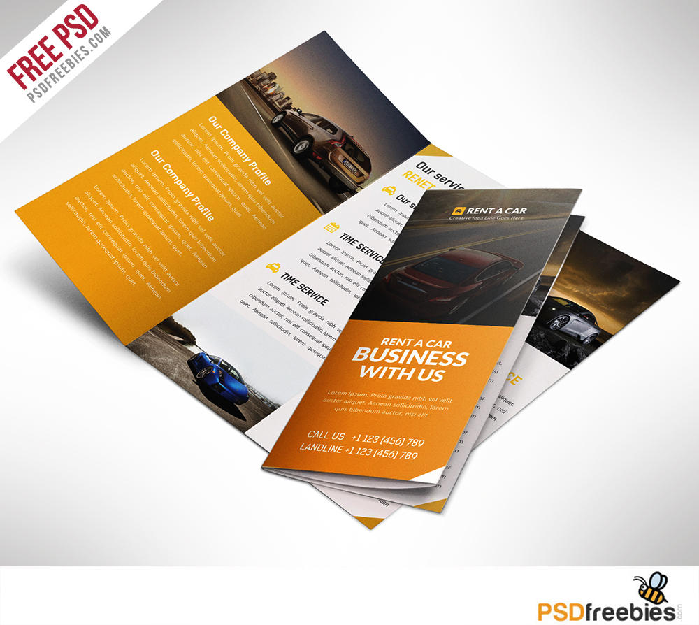 Car Dealer And Services Trifold Brochure Free PSD Download