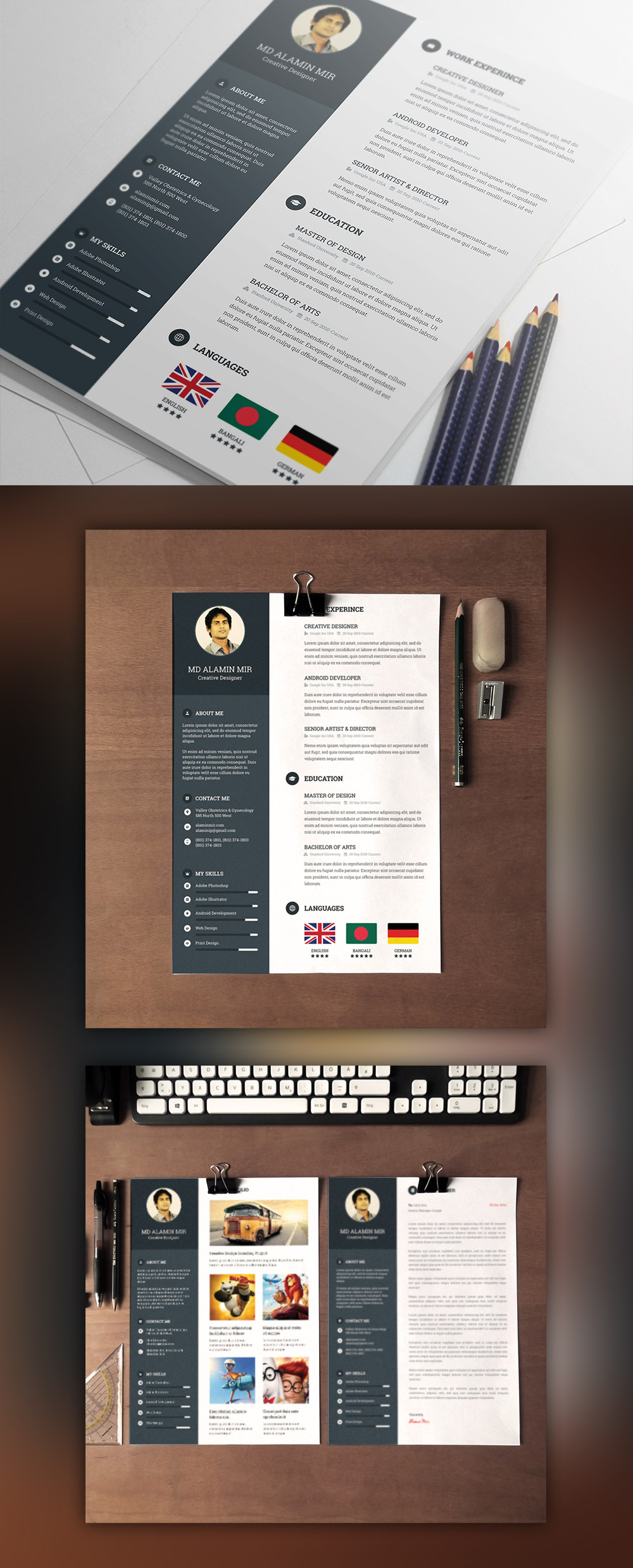 25+ Best Free Resume / CV Templates PSD Download - Download PSD