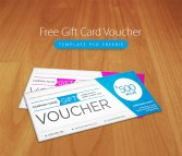 Free Gift Card PSD Template