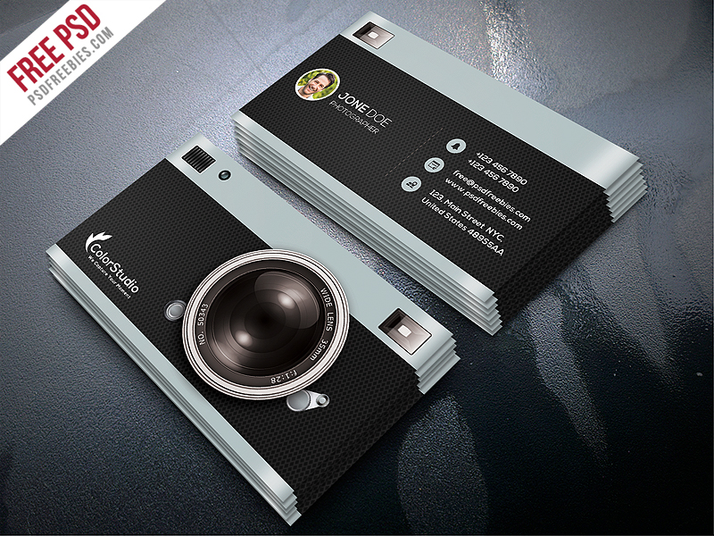 Photography Business Card Template Free PSD Download PSD