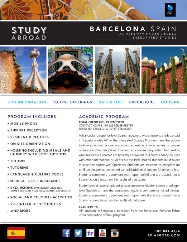 Programs Brochure Study And International Travel