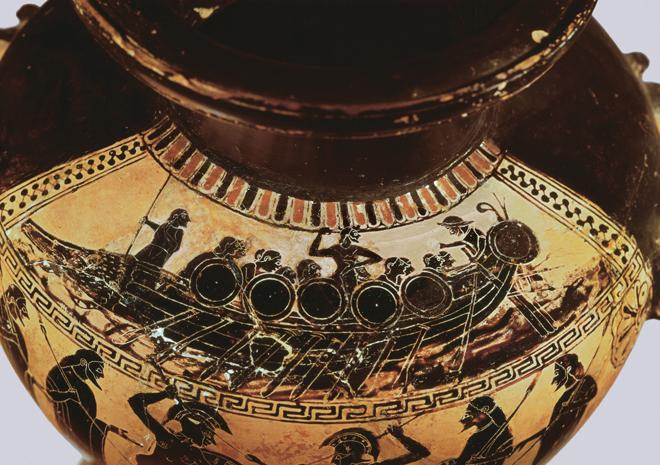 Image result for Ancient Greek Shipwreck vase