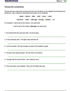 Connectives worksheet preview also choose the rh bbc