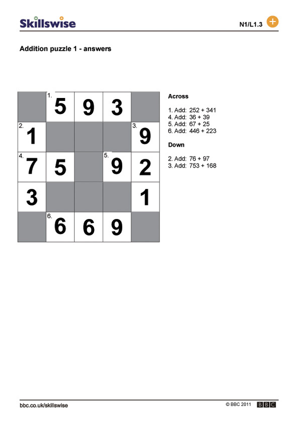 Addition puzzle 1