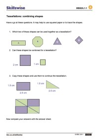Tessellations: combining shapes