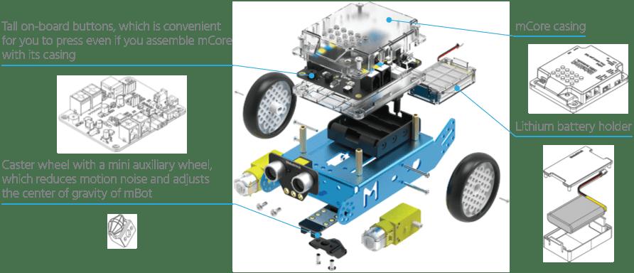 Rj25 Wiring Diagram Mbot V1 1 Wi Fi Programmable Robot Kit Beginner