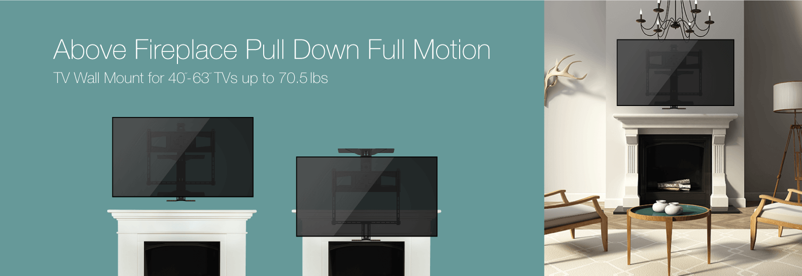 Monoprice Above Fireplace PullDown FullMotion