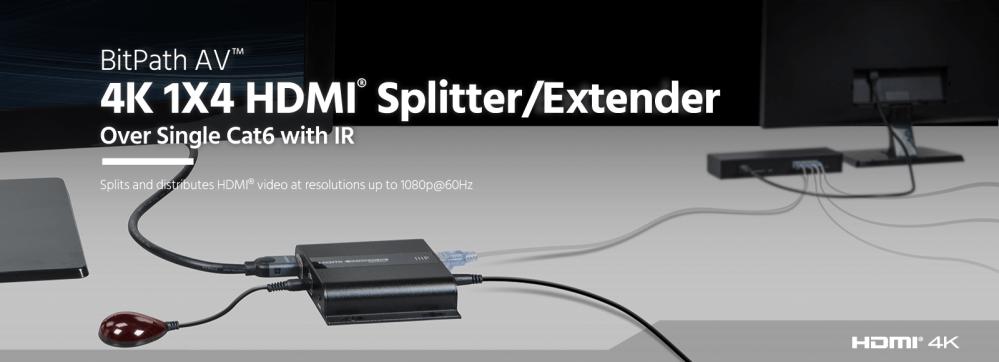 medium resolution of 4k 1x4 hdmi splitter extender