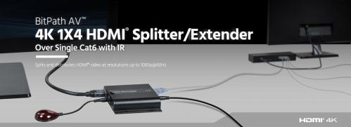 small resolution of 4k 1x4 hdmi splitter extender