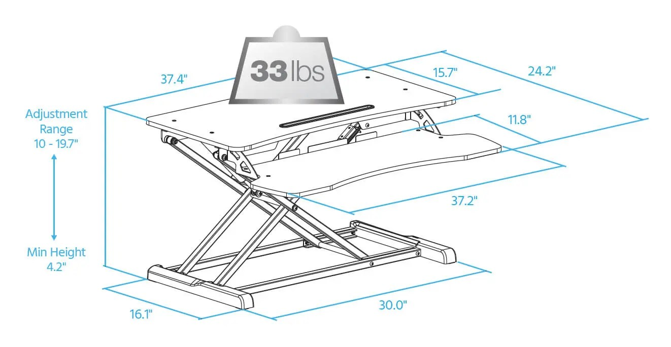 hight resolution of sit stand workstation desk converter