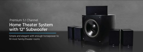 small resolution of  monoprice premium 5 1 channel home theater speaker system with 12in on wiring home network