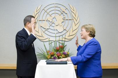 Secretary-General Swears in Head of UN Women