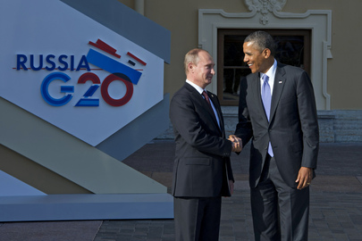 Russian Leader Welcomes US President at G-20 Summit, St. Petersburg
