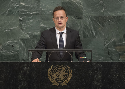 Foreign Minister of Hungary Addresses General Assembly
