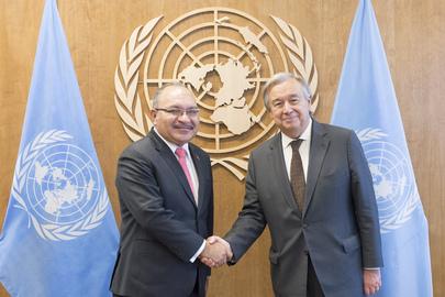 Secretary-General Meets Prime Minister of Papua New Guinea
