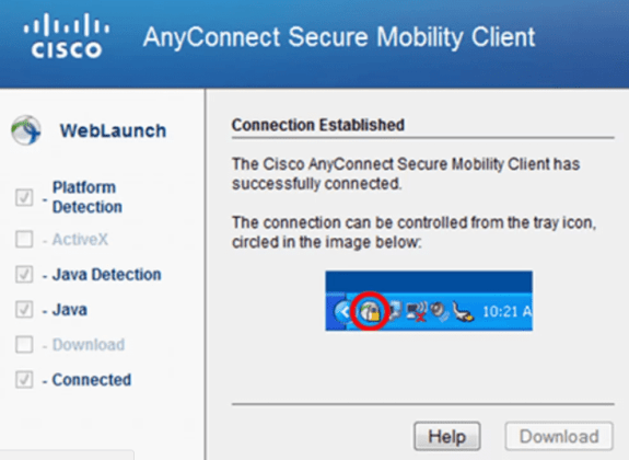 Download latest Cisco AnyConnectVPN client