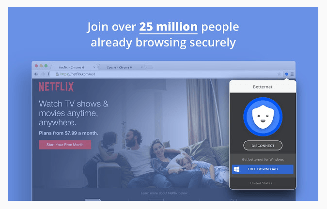 Download VPN Free betternet for chrome