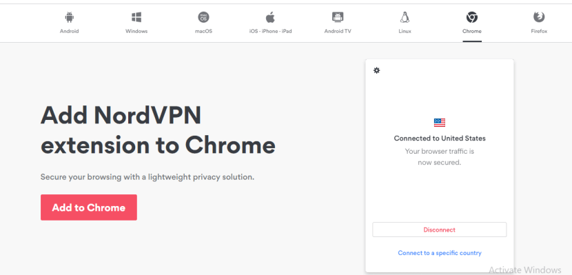 How to download NordVPN for chrome