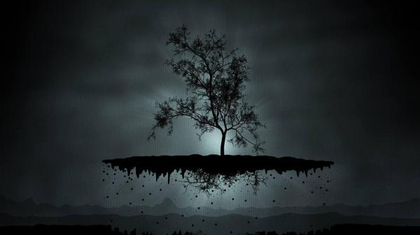 Dark Abstract Tree Art