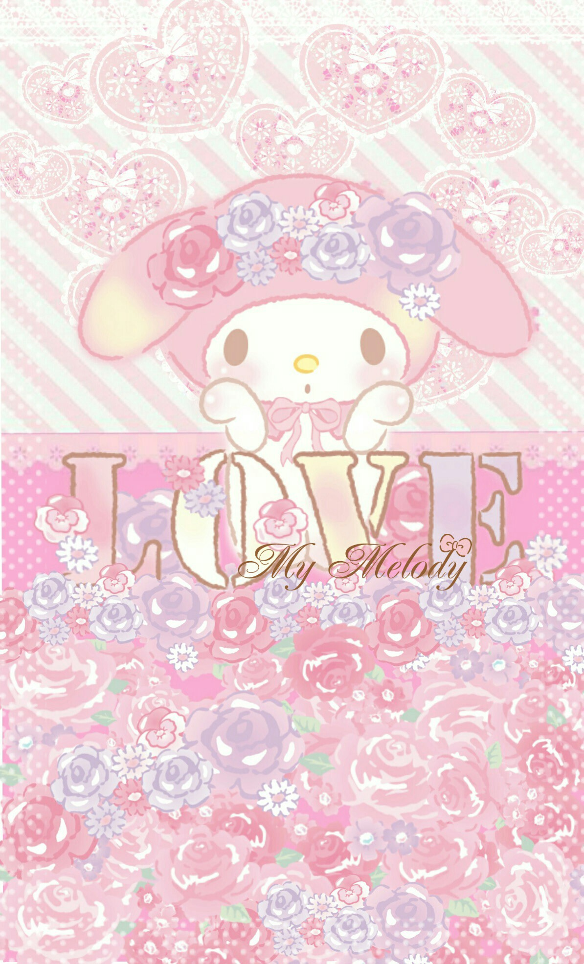 Cute Wallpaper Rilakkuma My Melody Wallpaper Downloadwallpaper Org