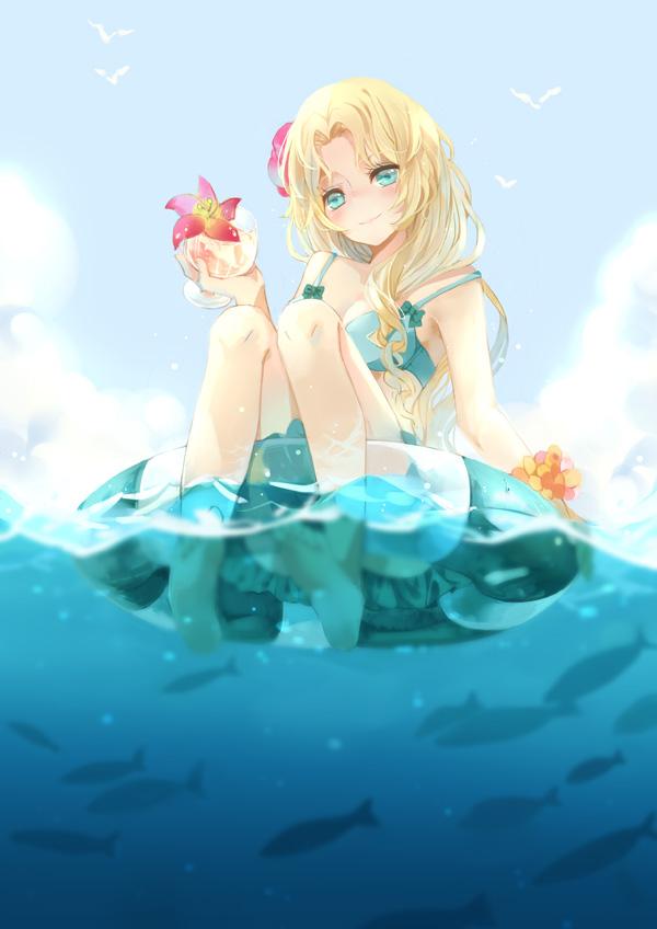 Cute Cartoon Girl Wallpaper Download Anime Beach Girls Wallpaper Page 3 Of 3