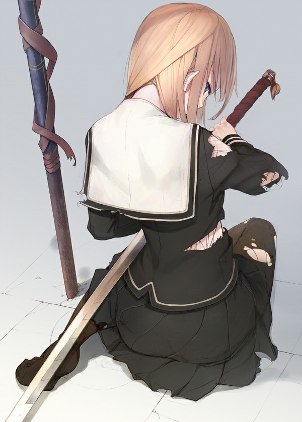 Camaros And Girls Wallpaper Anime M 228 Dchen Mit Schwertern Tapete Downloadwallpaper Org