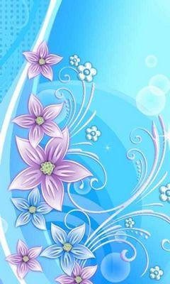 Background Biru Cantik : background, cantik, Pretty, Flower, Wallpaper, Download, Mobile, PHONEKY