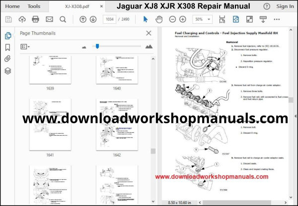JAGUAR XJ8 XJR X308 Workshop Manual Download