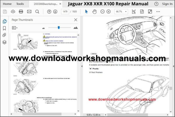 JAGUAR XK8, XKR, X100 Workshop Manual Download