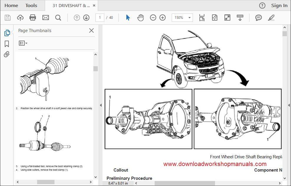 Holden Colorado Workshop Repair Manual Download