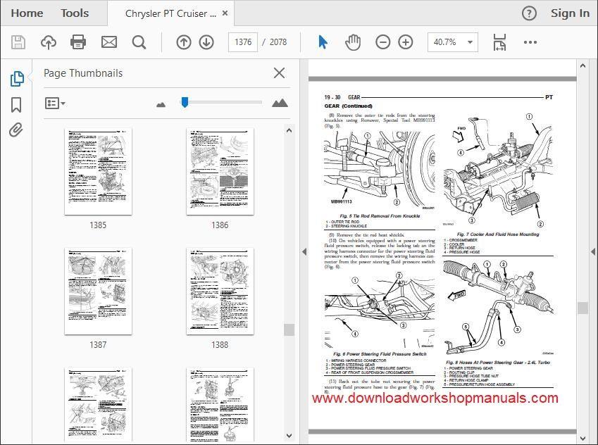 Chrysler PT Cruiser Workshop Service Repair Manual Download