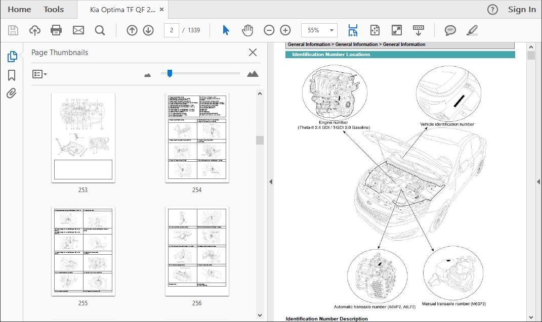 Kia Optima Workshop Repair Manual