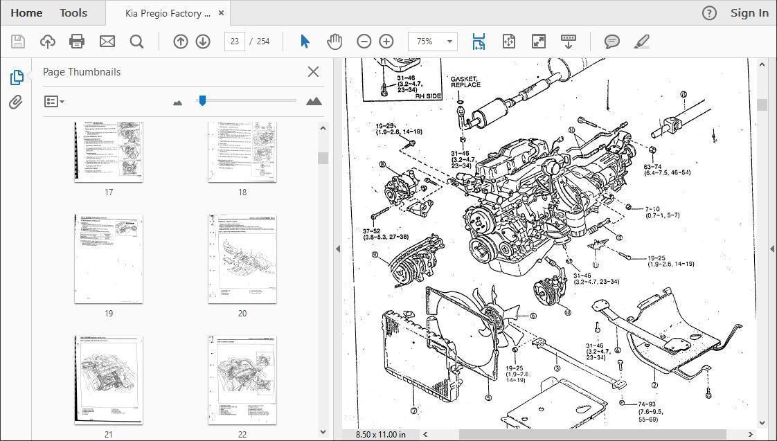 Kia Pregio Workshop Repair Manual
