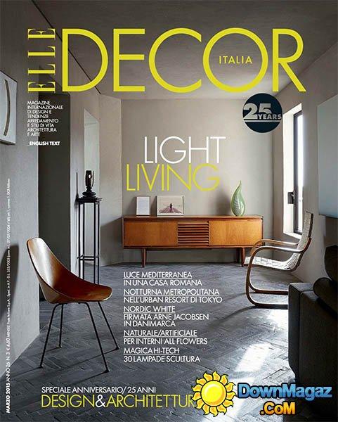 Elle Decor Italia  March 2015  Download PDF magazines  Magazines Commumity